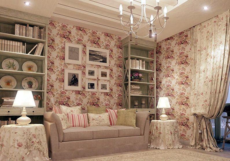 Гостиная в стиле прованс - Дизайн интерьера