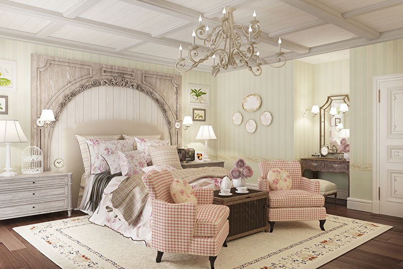 Спальня в стиле прованс - Дизайн интерьера