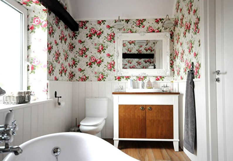 Ванная комната в стиле прованс - Дизайн интерьера