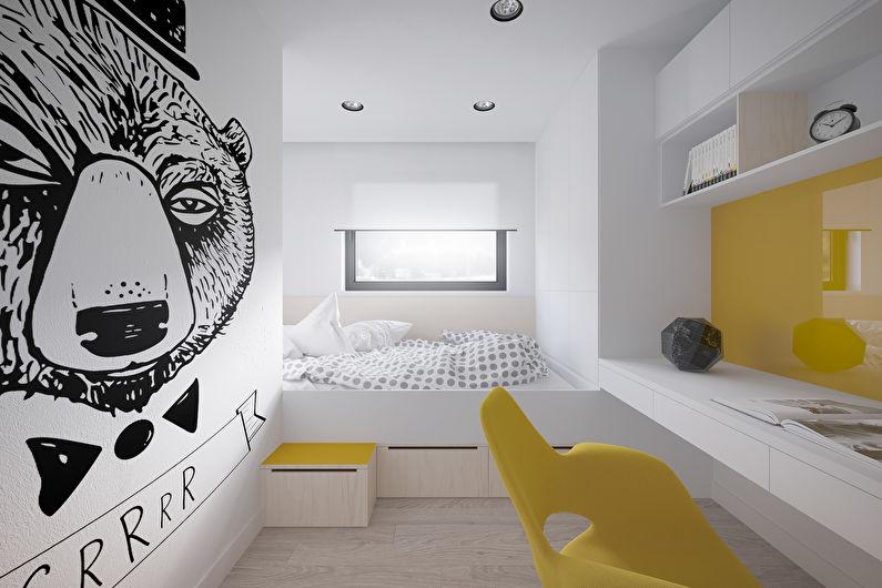 Комната для девочки-подростка в современном стиле - Дизайн интерьера