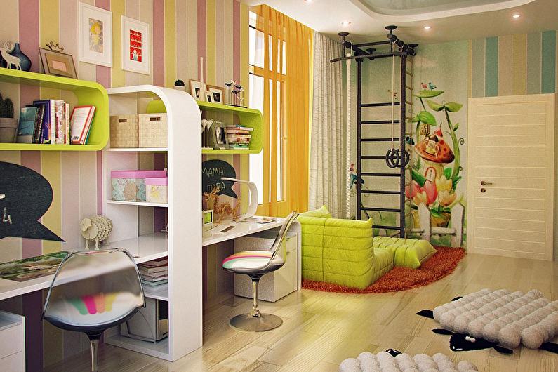 Интерьер комнаты для двух девочек-подростков