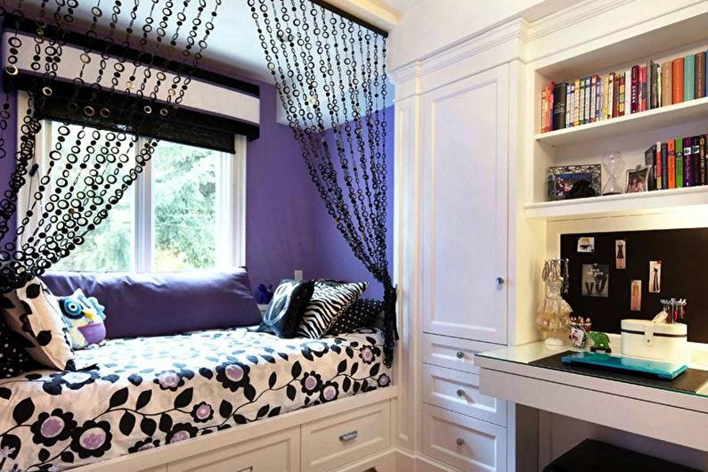 Маленькая комната для девочки-подростка - Дизайн интерьера