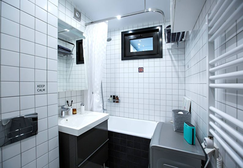 Дизайн ванной комнаты 4 кв.м. - Планировка