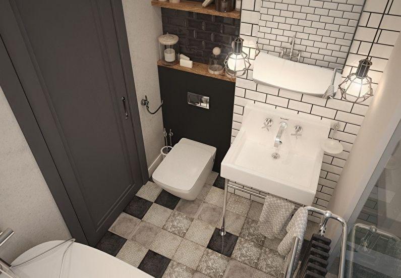 Дизайн ванной комнаты 4 кв.м. - Отделка пола
