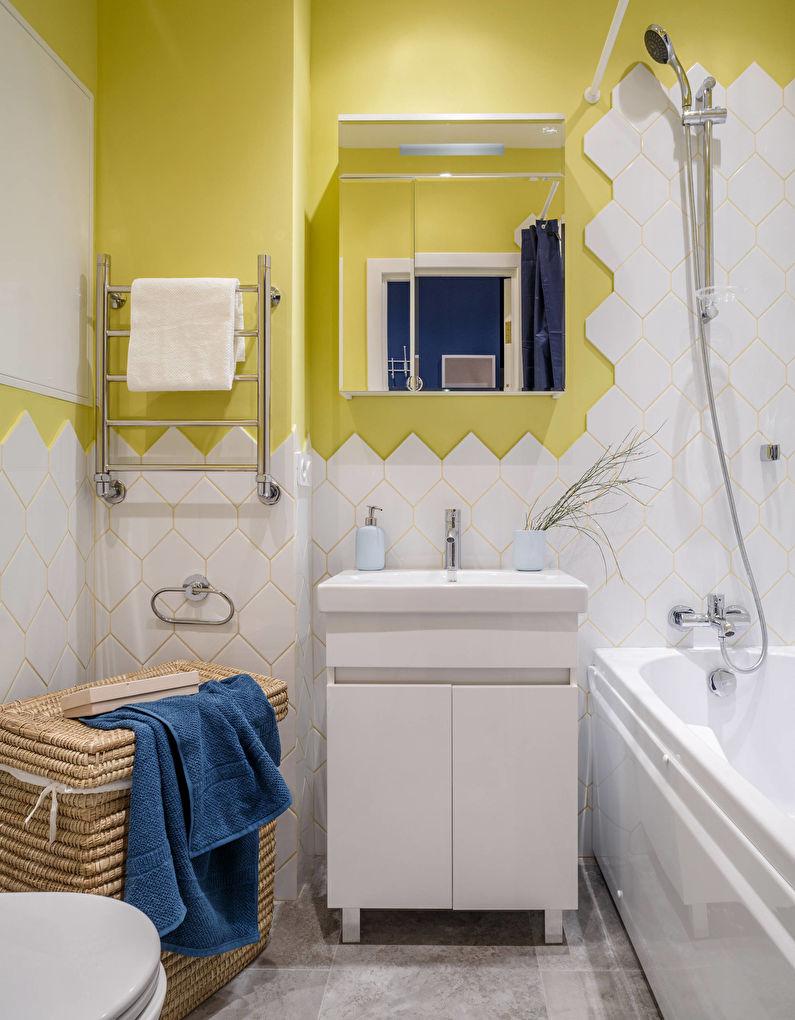 Дизайн ванной комнаты 4 кв.м. - Отделка стен