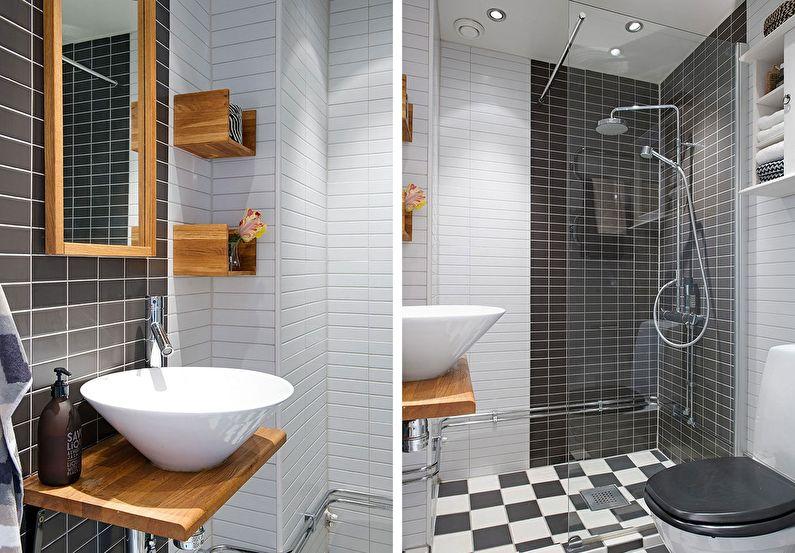 Ванная 4 кв.м. в скандинавском стиле - Дизайн интерьера