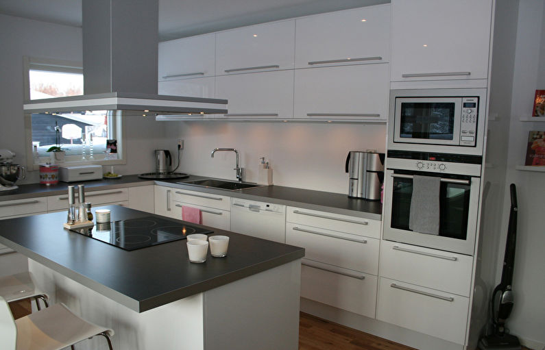 Кухня Икеа в современном стиле - Дизайн интерьера