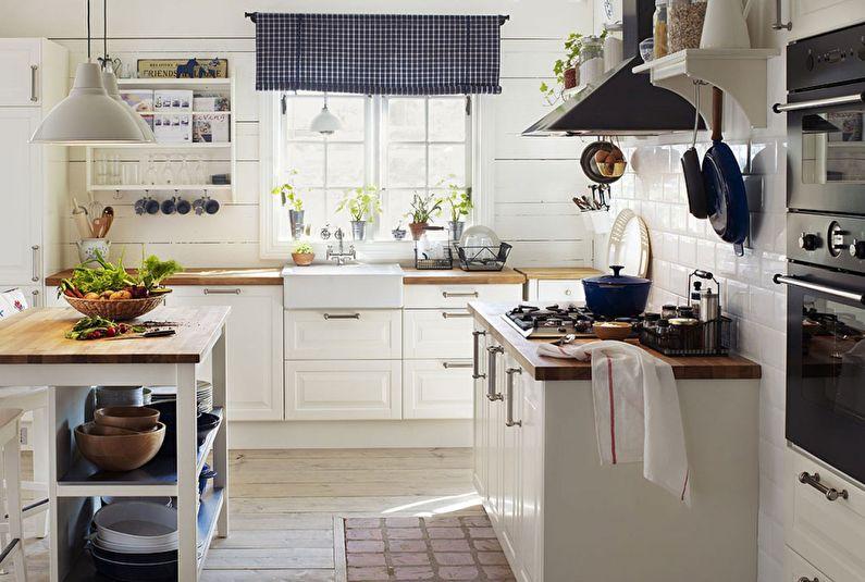Кухня Икеа в стиле прованс - Дизайн интерьера