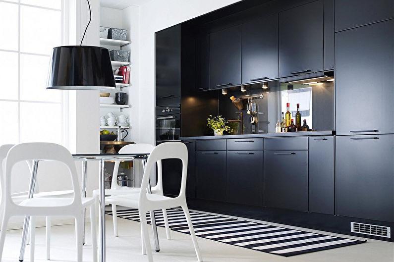 Черные кухни Икеа - Дизайн интерьера