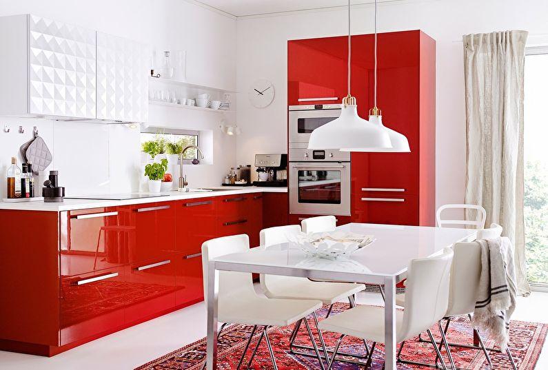 Кухни Икеа в ярких тонах - Дизайн интерьера