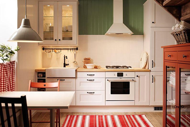 Линейная кухня Икеа - Дизайн интерьера