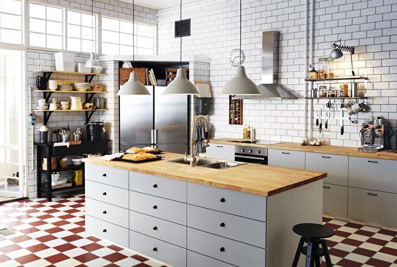 Островная кухня Икеа - Дизайн интерьера