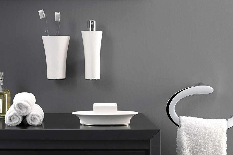 Аксессуары для ванной комнаты: 60 идей
