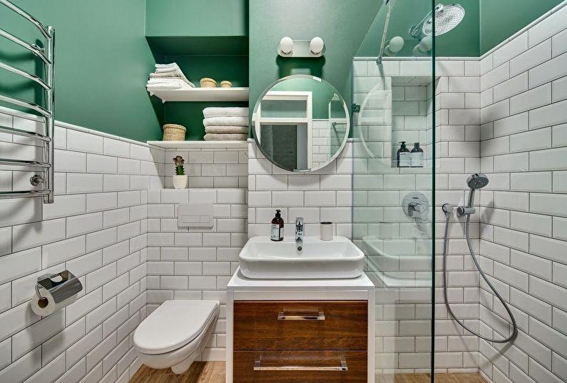 Дизайн ванной комнаты 4 кв.м. (60 фото)