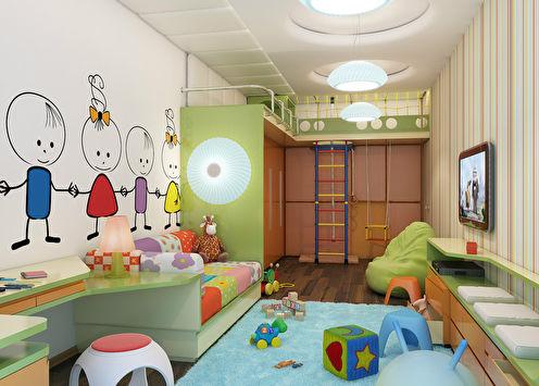 «Яркие полосы»: Детская для ребенка 4-х лет