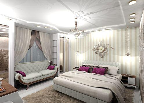 Спальня в классическом стиле, 16 кв.м.