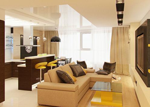 Дизайн 3-комнатной квартиры, 90 м2