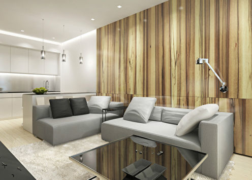Квартира в стиле минимализм, ЖК «Чемпион парк»