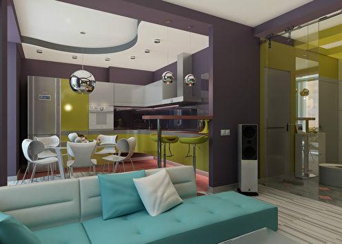 Дизайн квартиры «Цвет и форма»