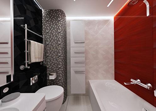 Ванная комната «Яркие контрасты»