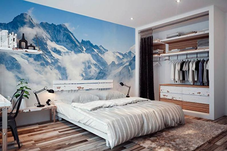 Фотообои в интерьере спальни - фото