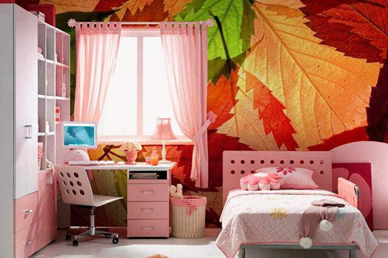 Фотообои в интерьере детской комнаты - фото