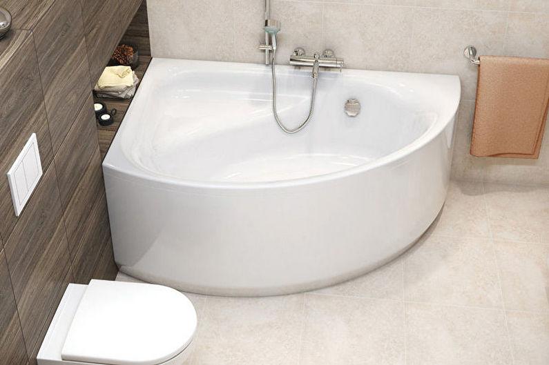 Акриловая угловая ванна