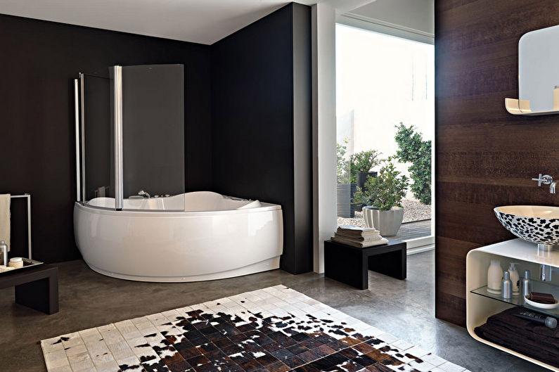 Угловая ванна в современном дизайне