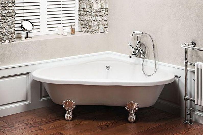 Угловая ванна в классическом дизайне