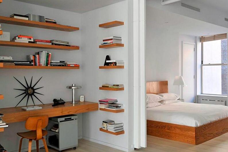 Зонирование комнаты - Спальня и кабинет