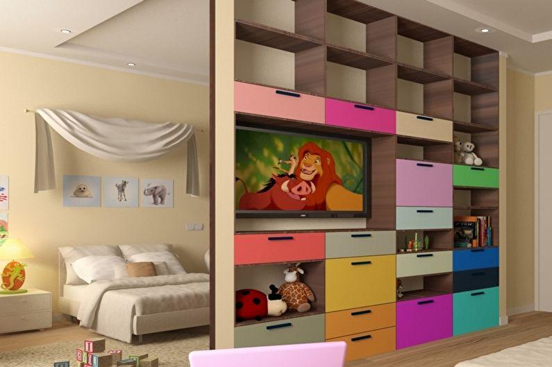 Зонирование комнаты - Детская и игровая