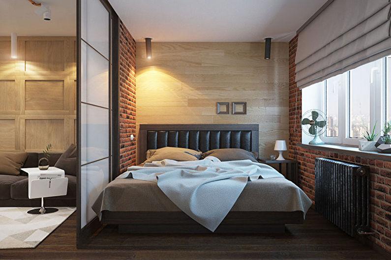 Зонирование комнаты - Гостиная и спальня