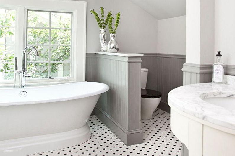 Зонирование комнаты - Ванная и туалет