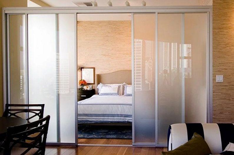 Виды зонирования комнаты - Раздвижные двери