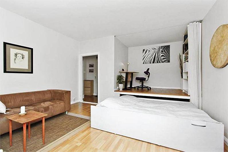 Виды зонирования комнаты - Подиум