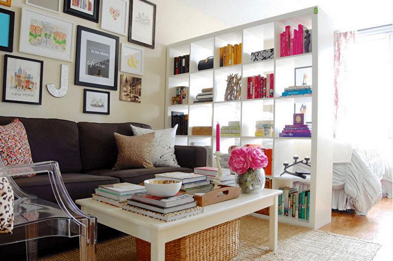 Виды зонирования комнаты - Мебель