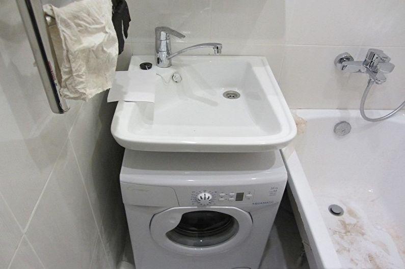 Раковина над стиральной машиной - Недостатки и сложности