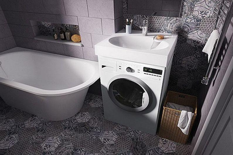 Раковина над стиральной машиной - Размер