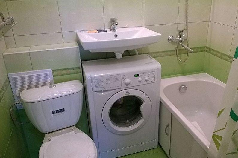 Раковина над стиральной машиной - Подключение стиральной машины