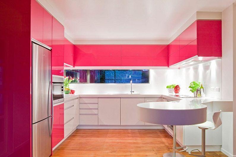 Розовая кухня в современном стиле - Дизайн интерьера