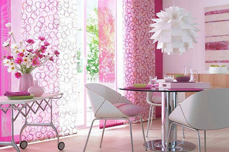 Дизайн розовой кухни - Мебель