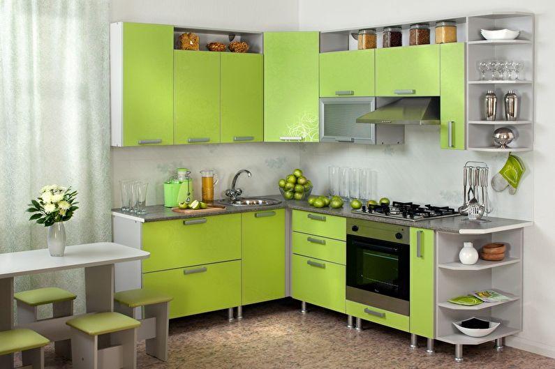 Маленькая зеленая кухня - Дизайн интерьера