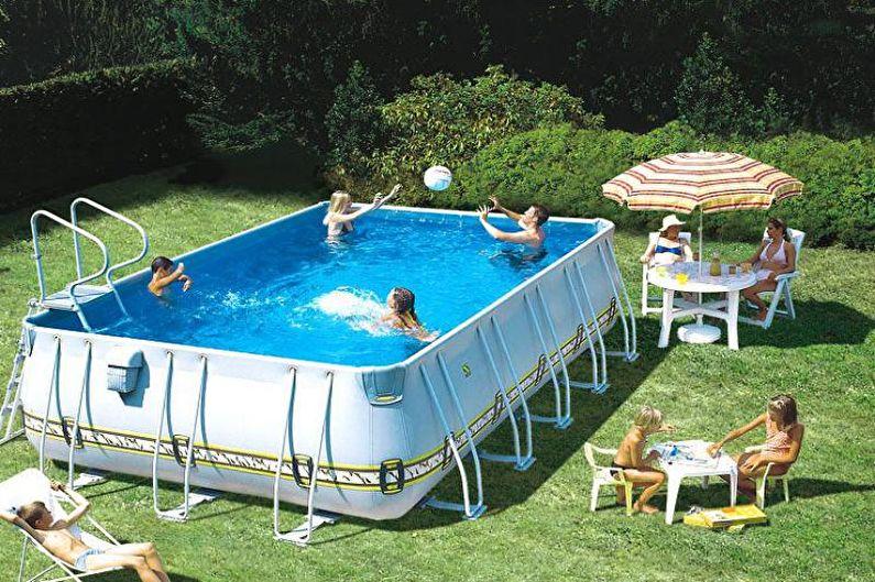 Каркасный бассейн для дачи