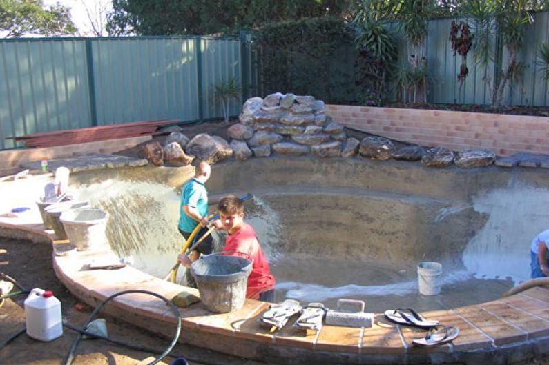 Бетонный бассейн для дачи своими руками