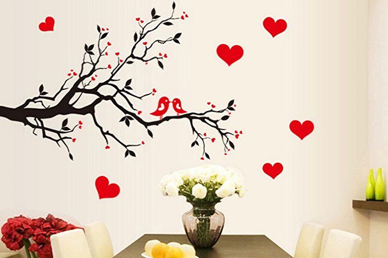 Романтические наклейки на обои