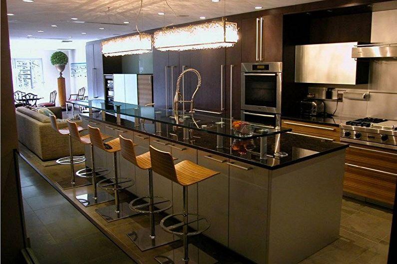 Кухни с барной стойкой - Стойка-остров