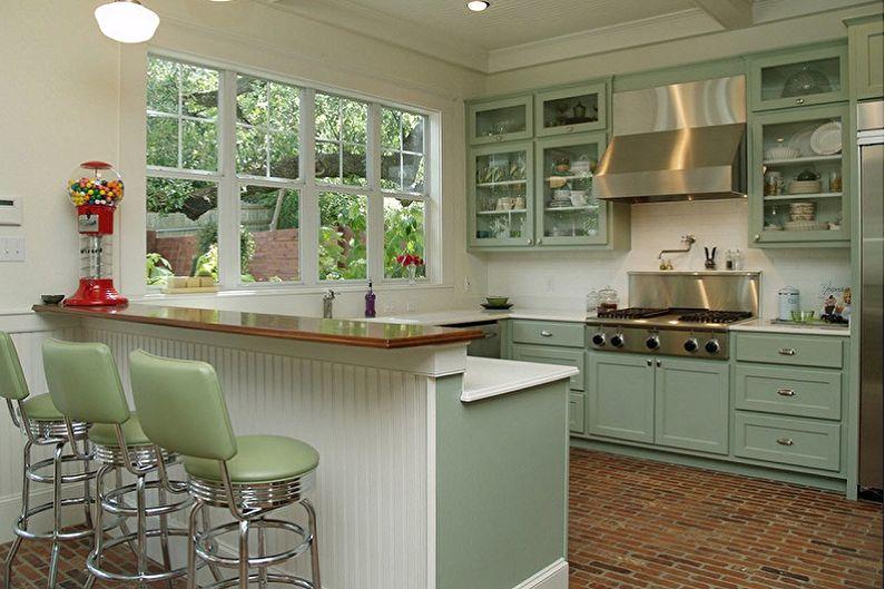 Кухни с барной стойкой - фото