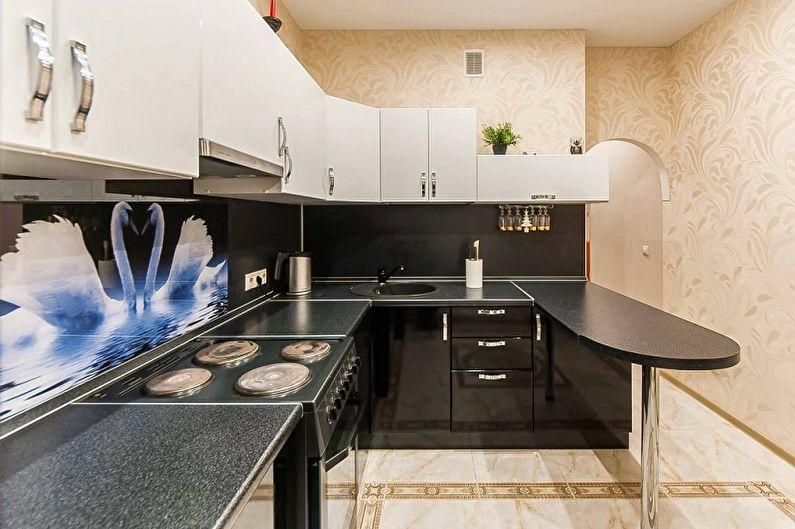 Кухонный гарнитур для маленькой кухни - Угловая планировка