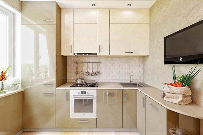 Кухонный гарнитур для маленькой кухни - фото