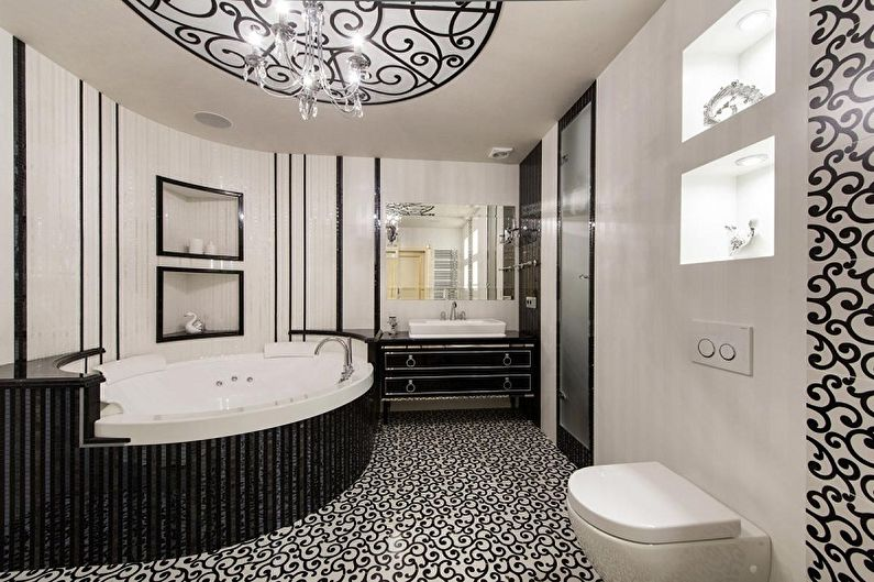 Черная ванная комната в классическом стиле - Дизайн интерьера
